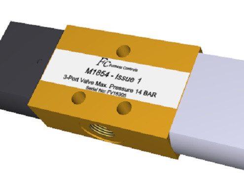 Pneumatisches Mini Umschaltventil M1854